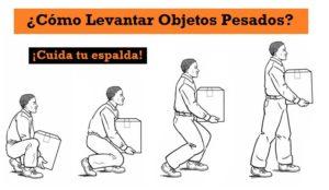 Postura para levantar objetos pesados - dolor de espalda